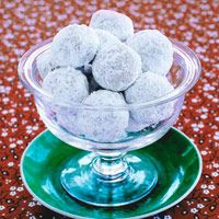 Walnut Balls: Sure sounds like my mom's recipe for pecan sandies only with walnuts. When she makes them into tube shapes she calls them Mexican wedding cake and when she puts jam in them she calls them thumbprints.