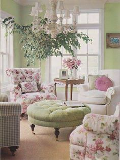 The perfect Shabby Chic sitting painted room this color, relaxing color and easy to accessorize