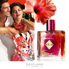 Oriflame Solar ~ Oriflame Sweden launches a new fragrance for Summer 2015 named Solar. Solar is a vibrant, energetic and fresh fragrance that evokes summer atmosphere with a mixture of summer fruit, aquatic notes and flowers. Accords of sunny, juicy watermelon and exotic hibiscus are dominant on a warm base.