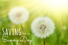 Saving for a SUNNY DAY #mysunnyday - Time 2 Save Workshops