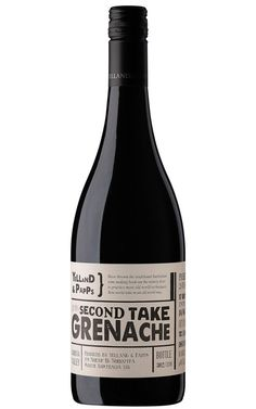 Yelland & Papps Second Take Grenache 2018 Barossa Valley - 12 Bottles Wine Design, Label Design, Packaging Design, Blue Fruits, Red Fruit, Bottle Labels, Wine Labels, Grilled Lamb, Wine And Spirits