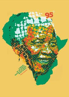 """I dreamed of Mandela's Africa"" for Mandela95 Poster Project."