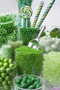 Green Candy Bars  / Buffets