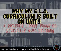 The standards are super broad. Units allow in-depth study. Standalone lessons don't give students context. Units allow the use of lots of great mentor texts. 8th Grade Ela, 6th Grade Reading, Secondary Resources, Middle School Teachers, Mentor Texts, Have Time, Lesson Plans, Curriculum, The Unit