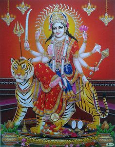 Needlework Embroidery Animals Diy Diamond Painting Indian style and Tiger Full Square Rhinestones Puzzle Picture Crafts Durga Picture, Maa Durga Photo, Maa Durga Image, Durga Ji, Durga Images, Sri Yantra, Shiva Art, Blue Lotus, Goddess Lakshmi