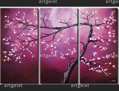 Contemporary painting Purple cherry tree