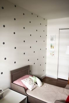 dot polka dot walls, polka dots, kids decor, home decor, girls bedroom Girls Bedroom, Bedroom Decor, Polka Dot Walls, Polka Dots, Home Design, Design Ideas, Kids Decor, Home Decor, Little Girl Rooms