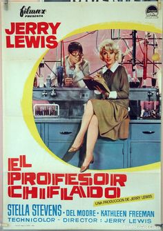 EL PROFESOR CHIFLADO. JERRY LEWIS-STELLA STEVENS. CARTEL ORIGINAL 1963. 70X100 - Foto 1
