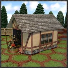 Medieval Cottage for Diorama Free Paper Model Download - http://www.papercraftsquare.com/medieval-cottage-diorama-free-paper-model-download.html