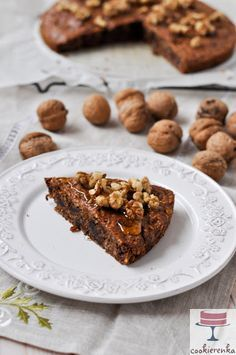Fit ciasto z orzechów włoskich (bezglutenowe) Gluten Free Sweets, Gluten Free Recipes, Good Food, Yummy Food, Vegan Cake, Healthy Sweets, Cakes And More, Cake Recipes, Sweet Tooth