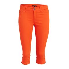Oranssit caprihousut | Lindex
