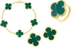 Mad for Malachite: Van Cleef & Arpels Re-launches Its Alhambra Malachite Collection | Jewels du Jour