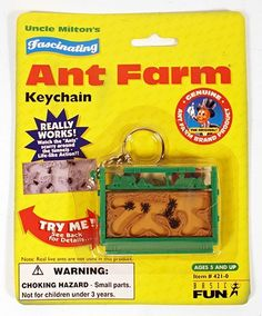 Uncle Milton's Fascinating Ant Farm Keychain by Basic Fun Mini Things, All Things Cute, Miniature Crafts, Miniature Dolls, Cool Keychains, Minis, Barbie, Mini Craft, Fidget Toys