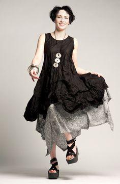 Manifold Dress in Black Carnaby