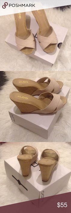 ALDO Santeramo Wedge Sandals Worn once; Great condition; Original box included; Santeramo-35 Aldo Shoes Wedges