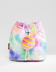 Imagen 1 de Mochila con cremallera y pompones Rainbow de Jaded