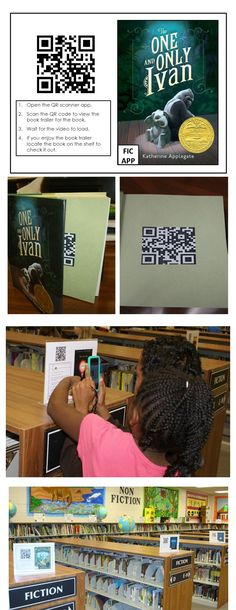 Using QR codes is a great way to promote books throught book trailers. Put on signs, bookmarks, or in the books.