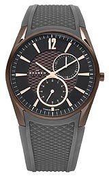 Skagen Multifunction Titanium Men's watch : Casual watch, Japanese quartz movement, Multifunction featuring date and continuous seconds subdials, Po Titanium Watches, Second Hand Watches, Waterproof Watch, Purple Leather, Quartz Watch, Gold Watch, Watch Bands, Watches For Men