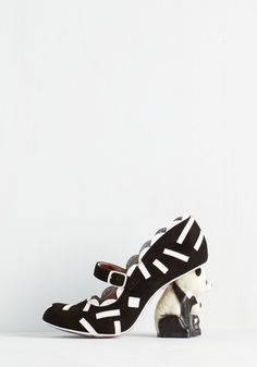 HAHAHAHA!!!  Forever Panda Day Heel. Fall head over heels for these adorably bold pumps by Irregular Choice! #black #modcloth