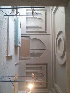 Pop Ceiling Design, False Ceiling Living Room, Tv Wall Decor, Drywall, Arabesque, Mosque, Decoration, Interior Architecture, Ideas