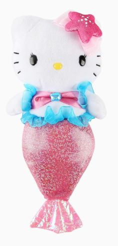 Exciting adventures await Hello Kitty the mermaid plush!