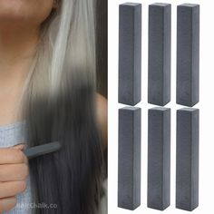 GOTHICA – Best Jet Black Hair Chalk Set of 6 #black #blackhair #hairchalks #haircolor #hairdye #coloredhair #hair