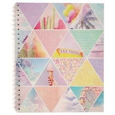 a4 campus notebook ($6.97) ❤ liked on Polyvore featuring home, home decor, stationery and school