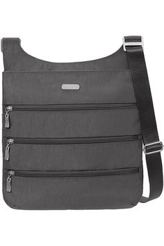 (This is an affiliate pin) Baggallini Women's Zipper - Big Purse Big Purses, Crossbody Bags For Travel, Portobello, Cross Body, Fashion Brands, Charcoal, Zipper, Stuff To Buy, Zippers