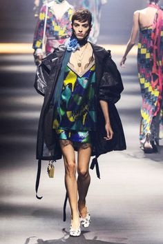 Throw a parka over your party dress for a rainy night out like this Lanvin spring 2016 look