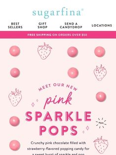 7eda506d0d85 Celebrate with  New  Pink Sparkle Pops this Valentine s Day - Sugarfina Pink  Sparkles