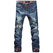 Menns Stilig Designet Straight Slim Fit Bukse... – NOK kr. 130