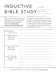 Free inductive Bible study sheet for all ages! - Bible Study tools resources, for small groups, women, men, girls, boys, teens, God's Word, Jesus, faith, PDF, download, printable