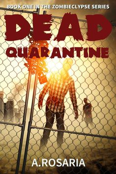 Dead Quarantine (Zombieclypse Book 1) by A Rosaria - - - Unbeknownst to two teenagers—Ralph worried about a history exam he didn't study for and Sarah having studied all weekend—a flu pandemic with apocalyptic proportions rages over the world. On Monday, they arrive at their high school besieged by men in hazmat suits, escorting infected teenagers to buses. Ralph is forced on one of these quarantine buses and Sarah, along with the remaining healthy student body, gets quarantined at school.