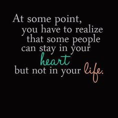 At some point...this has to happen.  Take a deep breath, accept it and move forward and bless the other people who 'want' to be in your life.