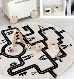 Little Village Playmat by Ooh Noo #littlevillageplaymat #playmat #oohnoo #kidsdecor #nursery #kidsroom #carmat