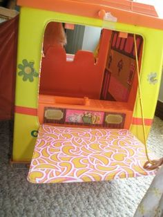 Barbie camper so remember getting this for Christmas one year.