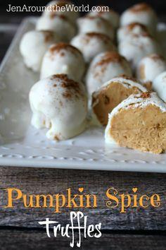 How to Make Pumpkin Spice Truffles - Jen Around the World