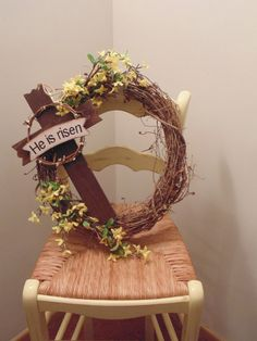 He Is Risen Grapevine Wreath Dollar Tree Flowers