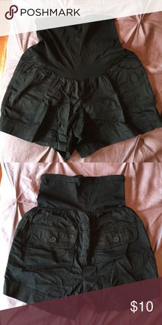 Maternity shorts Black size small, in great condition. Stretchy Motherhood Maternity Shorts