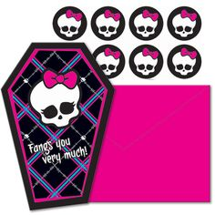 Monster High Thank You Notes (8)