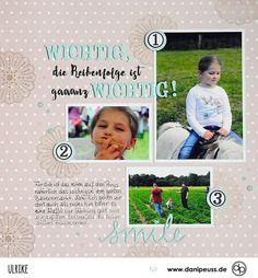 Wichtig Wichtig | Layout mit der Simple Life Kollektion von Pebbles | von Ulrike für www.danipeuss.de