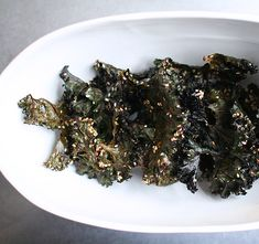 sesame miso kale chips // lottie + doof.