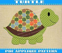 Free Quilt Pattern: Turtle Applique   Free Quilt Patterns ... : free baby quilt applique patterns - Adamdwight.com