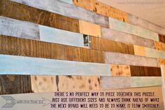 Pallet Plank Bathroom Wall :: Hometalk