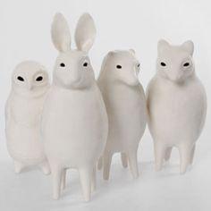 Sophie Woodrow Porcelain creature Sculptures - slightly creepy but cool