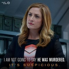 "Maura: ""I'm not going to say he was murdered. It's suspicious."" #Rizzoli&Isles"