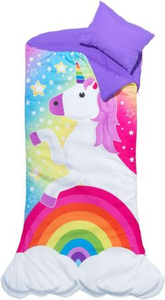 Unicorn Themed Kids Sleepover Set With Sleeping Bag And Tote - Hearthsong, Clear Source by target Sets
