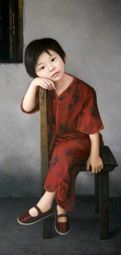 painting by Wu Chengwei (1973, Chinese) From | I AM A CHILD
