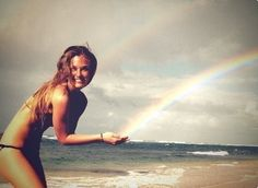 catch the rainbow! I want a picture like this!