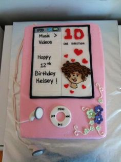 IPOD cake, playing 1 Direction Made By: Cakes Your Way www.facebook.com/mccoycakes